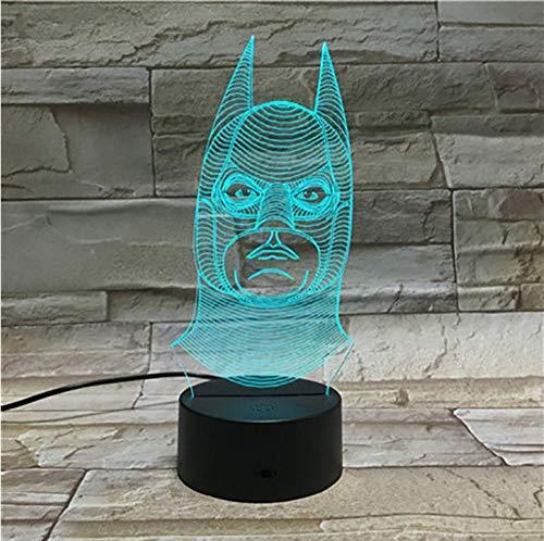 Jkxianshengbruce Wayne Dc Comics Superhero Movie 3D Lamp Night Light Led Night Light Lamp Dropship Colorful With Remote