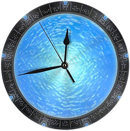 gshihuainingxianshekush Stargate Atlantis Wurmloch Portal Runde Home Decor Wanduhr