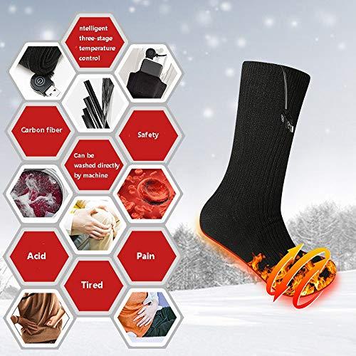 AUED Beheizbare Socken, Angreifen Smart Heating Socken Heizung warme Socken elektrisch beheizt Socken warme Füße Schatz, Winter im Freien Ski Jagd Camping