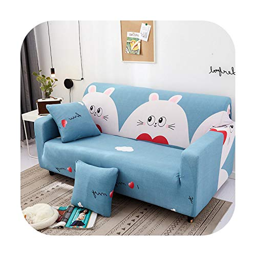 sofacover Stretch Slipcovers Sectional Elastic Stretch Sofa Cover for Living Room Couch Cover L Shape Armchair Cover Single/Two/Three Seat-Color 6-3-Seater 190-230Cm