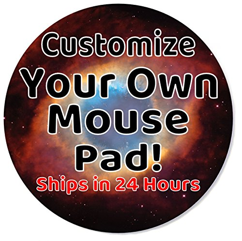 Customized Mouse Pad – Add Pictures, Text, Logo or Art Design and Make Your Own Personalized Mousepad. Each Personal Mouse Mat Comes in a Colorful Gift Bag. (Round Mousepad)