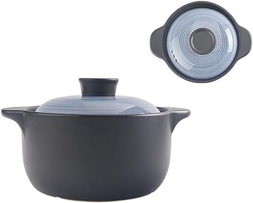 ZN-pot Cazuela Estofado Olla Hogar Ming Fuego Gas Ceramica Cazuela de Sopa Resistente al Calor Gran Capacidad Olla de Sopa (Disponible en una Variedad de tamaños)