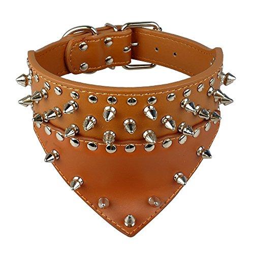 Avenpets - Bufanda de Piel para Perro, diseño de Bandana, con Pinchos y Tachuelas