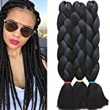 Syabeca 3 Pcs /300g 24'' Braiding Hair Extensions Two Ombre Braiding Hair Synthetic
