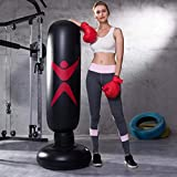 パンチバッグ さくら サンドバッグ ストレス解消 エアースタンディングバッグ 気分転換 パンチ キック トレーニング ボクシング テコンドー ダイエット 耐久 子供用大人用 練習用 自宅用 (160cm -黑)