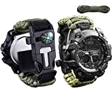 wejie Gifts for Men Dad Husband, Survival Gear Kit Watch 6 in 1 Emergency EDC Survival Too...