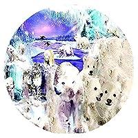 ジグソーパズル1000ピース子供大人大ジグソーパズルおもちゃギフトクリエイティブ減圧DIYチャレンジアート画像-極世界風景円形パズル