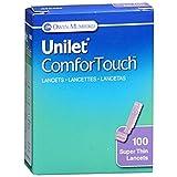 Owen Mumford AT0465 Unilet ComforTouch Lancet, μLtra Thin, 30G, Purple (Pack of 100)