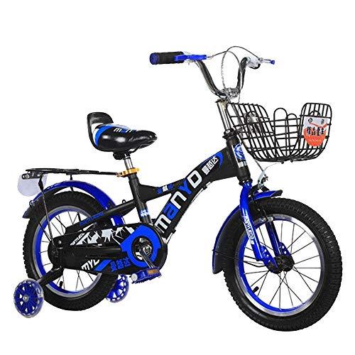 HUAQINEI Bicicleta para Exteriores, Bicicleta para niños de 2 a 13 años, Cesta y Ruedas para Bicicletas de 12/14/16/18 Pulgadas