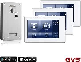 32GB Foto-//Video-Speicher T/ür/öffner-Funktion 3X 7 Zoll Monitor HD-Kamera 115/° AVS2027U PoE-Switch Unterputz-T/ürstation IP65 1 Familienhaus Set GVS IP Video T/ürsprechanlage Handy-App