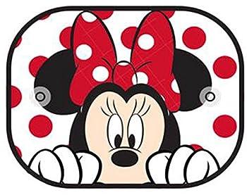 Plasticolor 003782R01 Disney Minnie Peek-A-Boo Side Window Mesh Sunshade 2 Piece