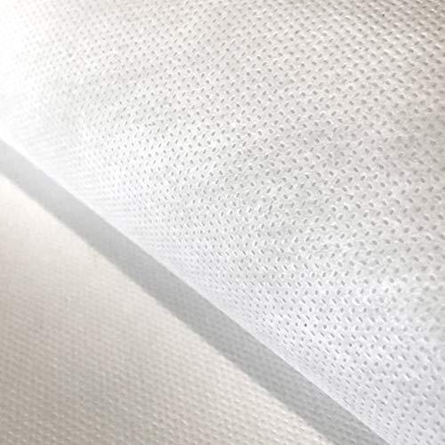 Flor Márquez® - TNT de 80 gr/m², por Metros, Impermeable, Lavable, Ideal para Filtros de Mascarillas de Tela. Tejido No Tejido, Blanco, 100% Polipropileno. OEKO TEX. Elige Tamaño: (1,60 x 1,00 mt)