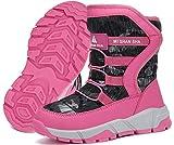 Botas de Nieve Niño Niña Botas de Invierno Antideslizante Cálido Forro Niños Al Aire Libre Boots
