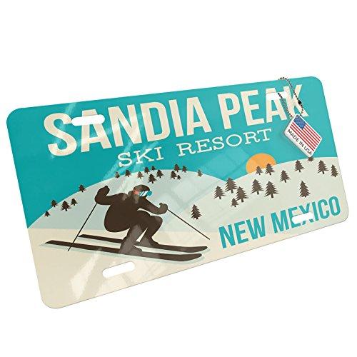 NEONBLOND Metal License Plate Sandia Peak Ski Resort - New Mexico Ski Resort