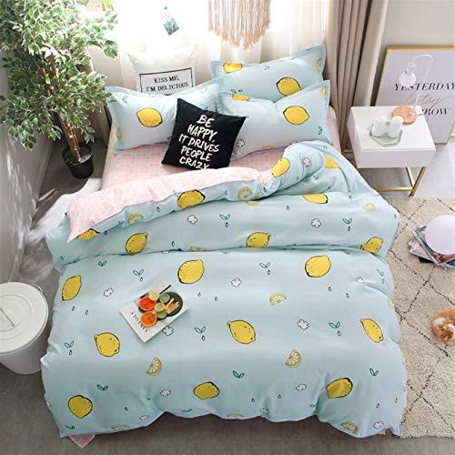 Revestimientos de cama Color sólido Fruta Fresa con estampado de fresas Conjunto Cubierta de edredón Cubierta for niños Hoja de cama for niños Casa de almohada Conjunto de ropa de cama Edredón 61003 H