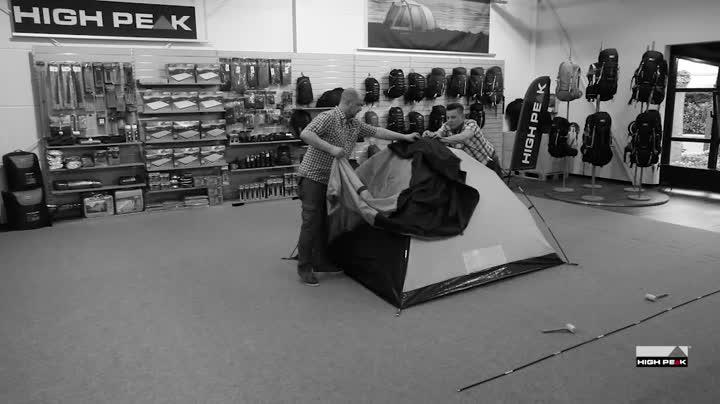 51LmqZXvwGL High Peak Kuppelzelt Nevada 3, Campingzelt mit Vorbau, Iglu-Zelt für 3 Personen, doppelwandig, wasserdicht…