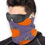 Braga Cuello Moto Calentador de Cuello Deporte Calentador Pasamontañas Polar Multifuncional Máscara Vegetables.Orange Pumpkin Pattern Men Women Face Masks Neck Gaiter Neck Warmer Reusable Mask