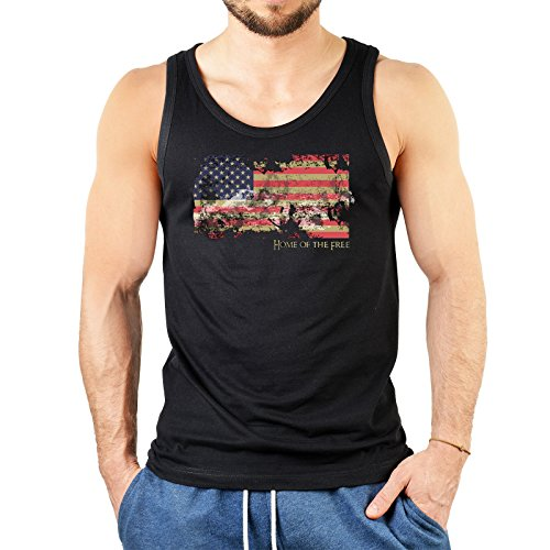 Herren Tank Top mit Stars and Stripes - USA Home of The Free - Cooles Trägershirt, Muskelshirt