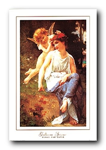 Wall Decoration Guillaume Seignac Venus And Cupid Angel Art Print Poster (24x36)