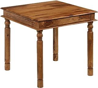 binzhoueushopping Table de Salle à Manger en Bois Massif de Sheesham 80 x 80 x 77 cm Table de Salle à Manger Moderne