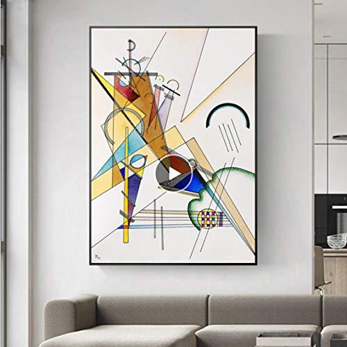 Danjiao Wassily Kandinsky-Gewebe.1923 Berühmte Leinwand Gemälde Reproduktionen Weltberühmte Kunstwerk Leinwand Kunstdrucke Für Wohnzimmer Wand Wohnzimmer 40x60cm