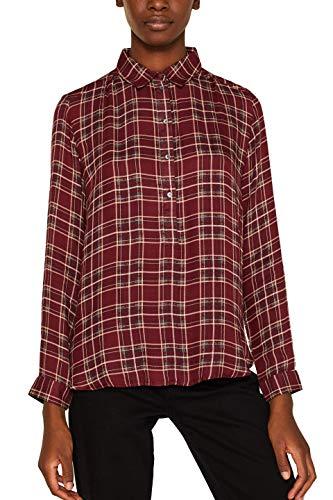 ESPRIT Damen 109Ee1F001 Bluse, Rot (Garnet Red 620), (Herstellergröße: 38)
