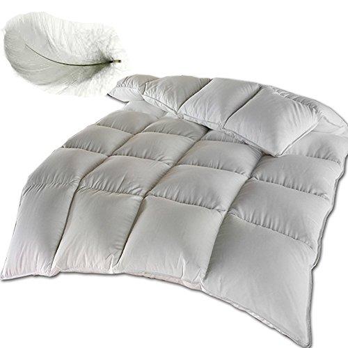 JEMIDI Feder Stepp Bett Bettdecke oder Kopfkissen Bett Decke Federn Federdecke Decke (Bettdecke 135x 200cm)