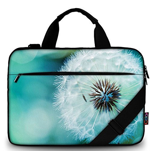 """iColor 14"""" 15 15.4-inch Laptop Shoulder-Bag - Canvas Computer Tablet Protective Carrying Case 14-15.6 inch Notebook Briefcase with Handle Compatible Chromebook MacBook Pro HP (14""""~15.6"""", Dandelion)"""