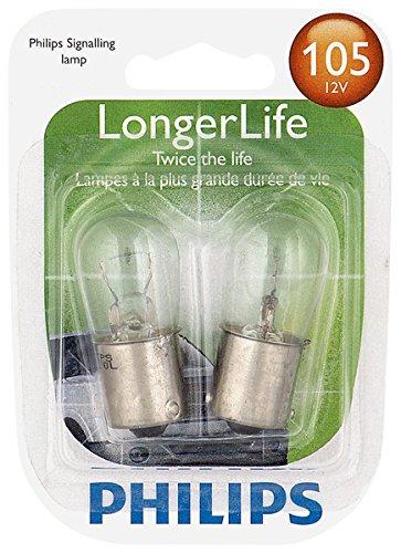 Philips 105 LongerLife Miniature Bulb, 2 Pack
