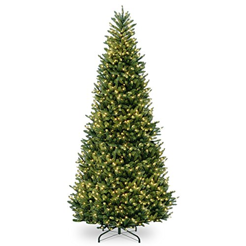 National Tree Company Pre-lit Artificial Christmas Tree | Includes Pre-strung White Lights and Stand | Frasier Fir Slim - 12 ft