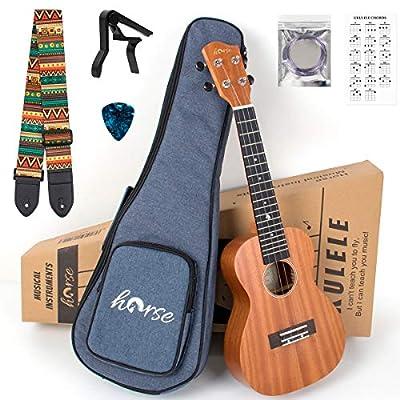 Horse Concert ukulele Mahogany 23 inch Ukelele ...