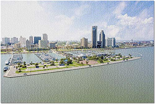 YYTOOF HD Corpus Christi Texas - Luftaufnahme der Skyline der Stadt und des Ocean Drive 9034298 (52*38cm Premium 500-teiliges Puzzle Made in USA!)