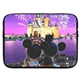 Laptop Sleeve Case Minnie and Mickey Mouse Notebook Tablet Bag for 13-15 Inch Notebook Tablet IPad Tab