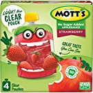 Mott's No Sugar Added Strawberry Applesauce, 3.2 Ounce (Pack of 6), Clear Pouch, 24 Count, Perfect for on-the-go, No Added Sugars or Sweeteners, Gluten Free and Vegan