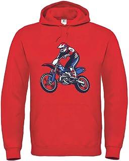 Druckerlebnis24 Sudadera con capucha para motocross Trick Endo, unisex, para niños y niñas