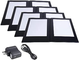 Yescom 4 Pack LED Backlit Menu Cover Leatherette Wine List Check Bill Holder Displayer 2-Panel