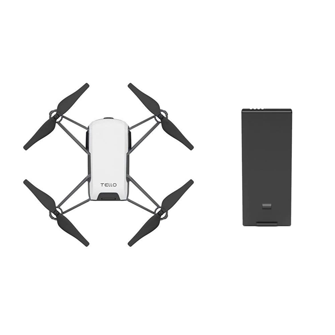 Tello Quadcopter Drone with HD camera and VR,powered by DJI technology and Intel processor,coding education,DIY accessories,throw and fly (With Extra Battery)