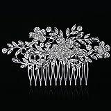 Miaoo - Peineta nupcial con diamantes de imitación, accesorio de boda femenino para el pelo
