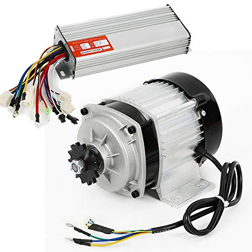 Brushless Electric Motor with Controller 48V DC 750W for Electric Scooter E Bike Tricycle Go Kart
