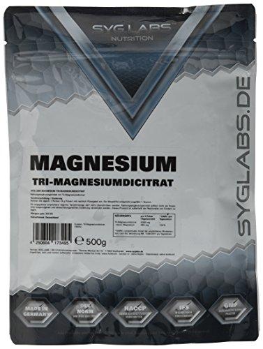 Syglabs Nutrition Magnesium Citrat Pulver - Trimagnesiumdicitrat - höchste Qualität, 1er Pack (1 x 500 g)