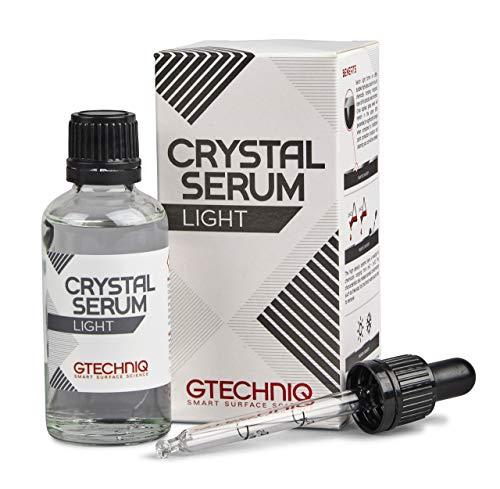 Gtechniq Crystal Serum Light 50ml - Protection céramique carrosserie primée 2X au SEMA Show de Las Vegas - brillance, éclat, résistance aux produits chimiques et micro-rayures - Facile à appliquer