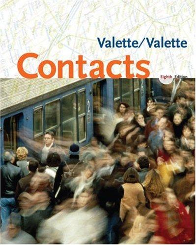 Contacts: Langue et culture françaises 8th edition