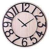 ACLOCK 60 Cm Simple Reloj Mudo De Moda Reloj De Pared Grande Retro Vintage Antiguo Reloj Colgante Decoración del Hogar