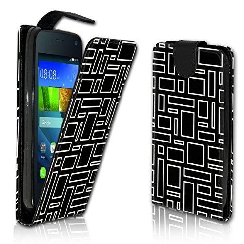 wicostar Vertikal Flip Style Handy Tasche Hülle Schutz Hülle Schale Motiv Etui Karte Halter für Wiko Bloom - Variante VER39 Design10