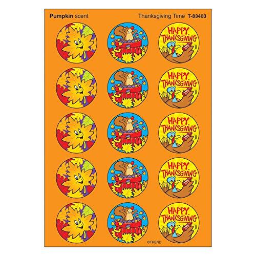 TREND enterprises, Inc. Thanksgiving Time/Pumpkin Stinky Stickers, 60 ct.