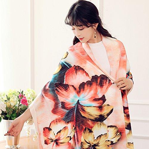 LLZHWSJ Silk/Écharpe/Châle/Femme/Robe/Tout-Match/Silk,Une Poudre