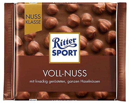 10x Ritter Sport - Nuss-Klasse Voll-Nuss - 100g