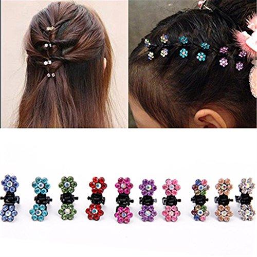 DWE Haarnadeln, Haarbänder, Spangen, Kleine Haar-Clips, Blumen, Accessories für Damen und Mädchen, 15Stück