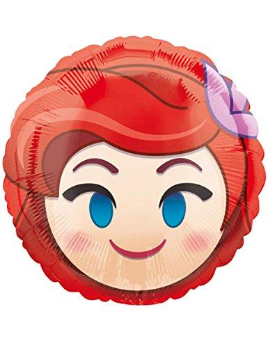 Amscan International 3637101 Ariel - Globo, diseño de emojis