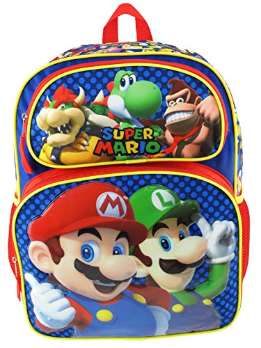 Super Mario Large 16' Full Size Backpack - Mario Madness - 21119